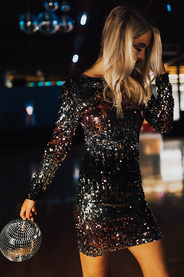 Get Up And Glow Sequin Dress in Multi