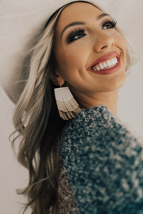 Front Row Lifestyle Earrings In Birch