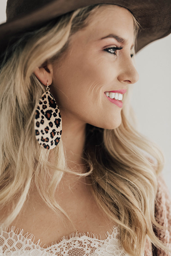 Private Jet Lifestyle Leopard Earrings