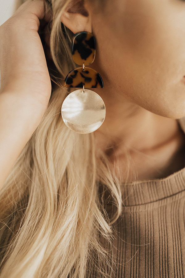 Champagne Daydream Tortoiseshell Earrings