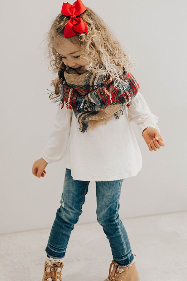 Cozy Love Children's Infinity Scarf In Tan