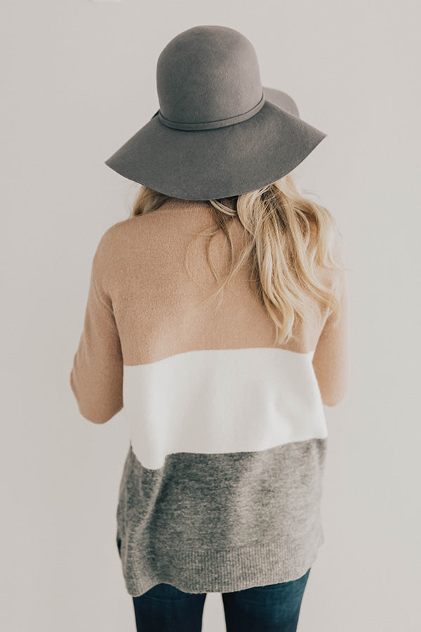 Status Update Colorblock Sweater in Blush