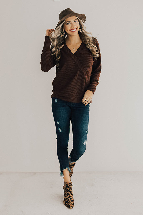 Favorite Time Of Year Tunic Sweater in Chestnut