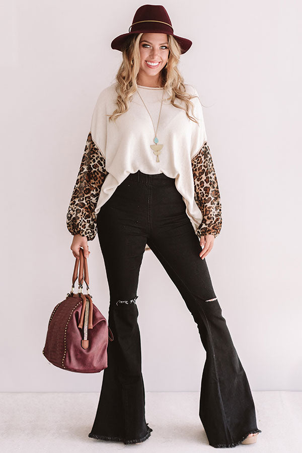 Perfect For You Leopard Shift Top