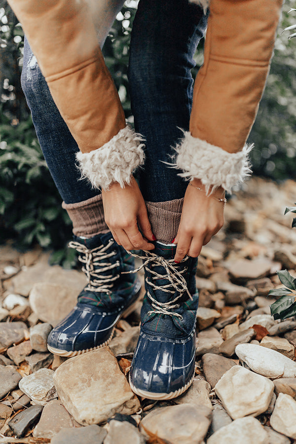 The Oaklyn Sherpa Lined Boot In Cream