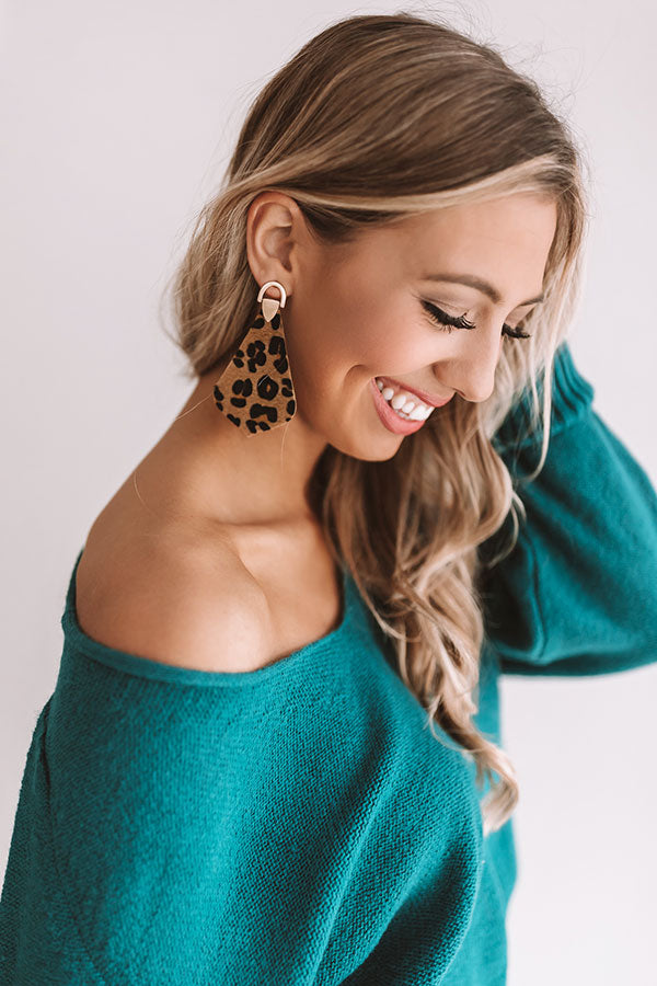 Total Knockout Leopard Earrings