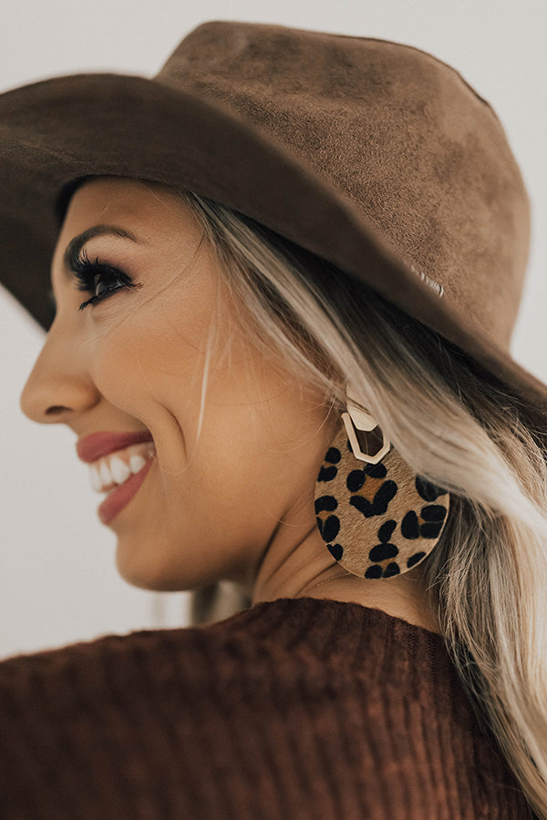 Toast To Life Leopard Earrings
