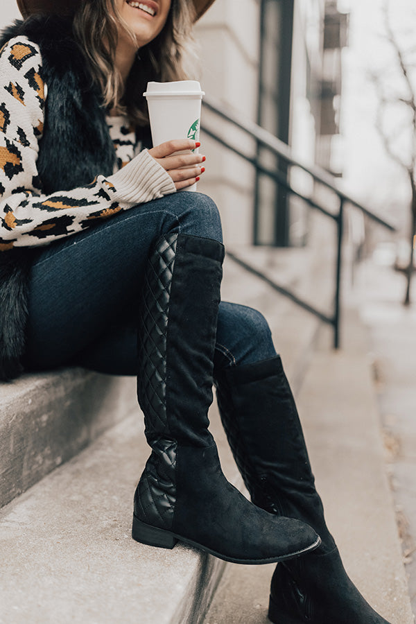 The Oakley Knee High Boot in Black