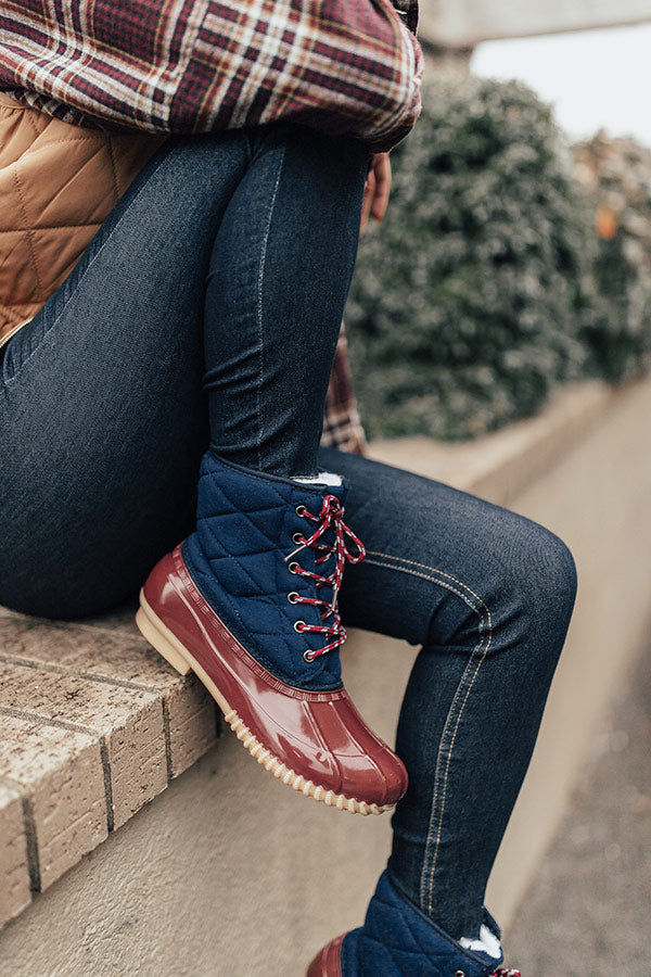 The Oaklyn Sherpa Lined Boot In Wine
