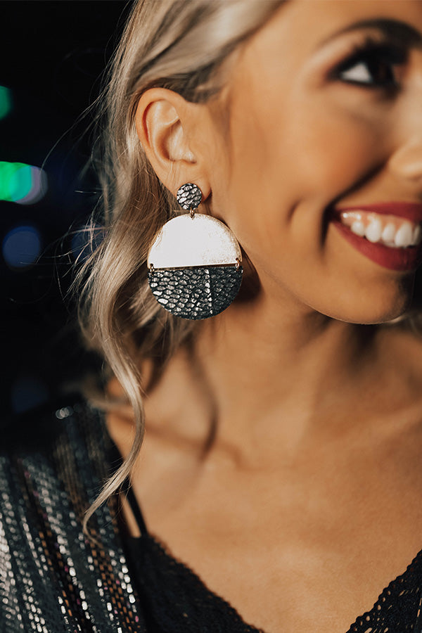 Glam Goals Earrings In Black