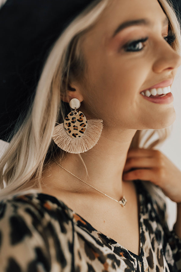 Leopard So Chic Earrings In Beige