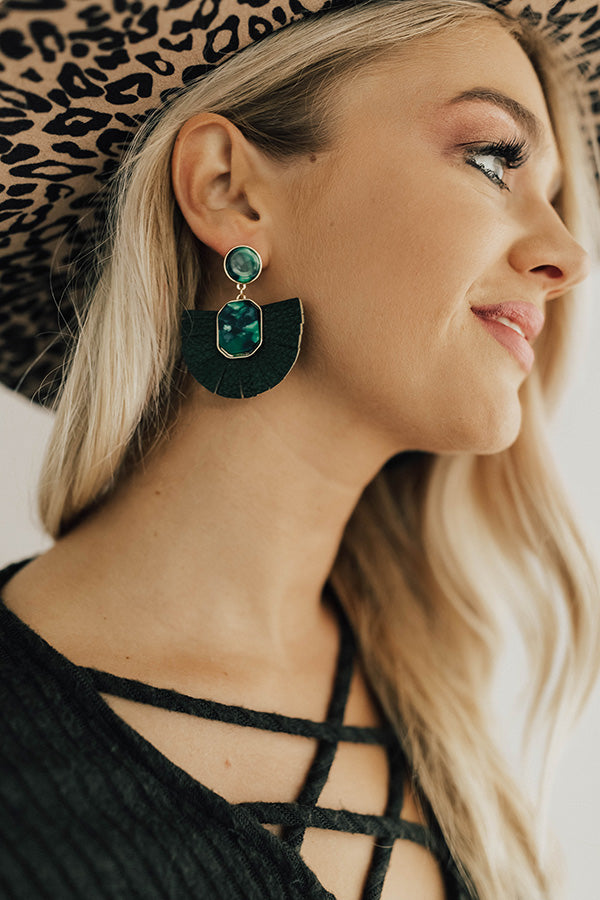 After Hours Earrings In Hunter Green