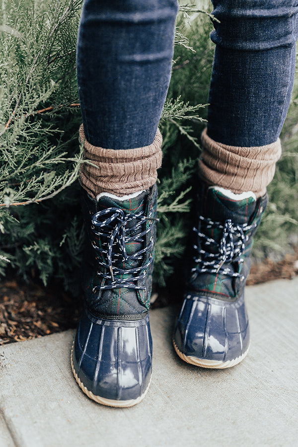 The Oaklyn Sherpa Lined Boot In Navy