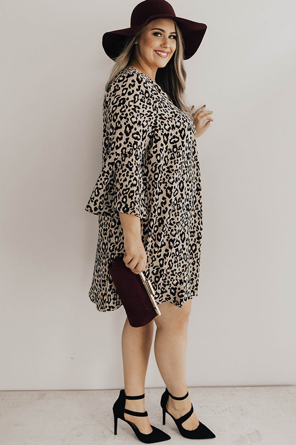 Sippin' Champagne Leopard Shift Dress
