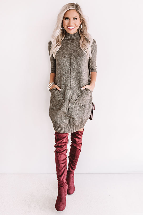 Champagne In The City Tunic Sweater in Grey