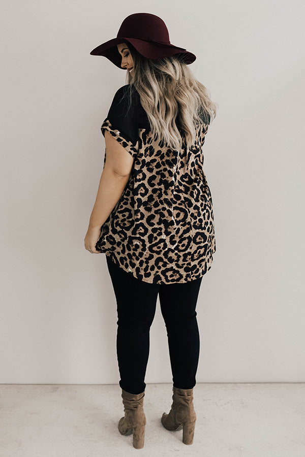 VIP Views Leopard Shift Top