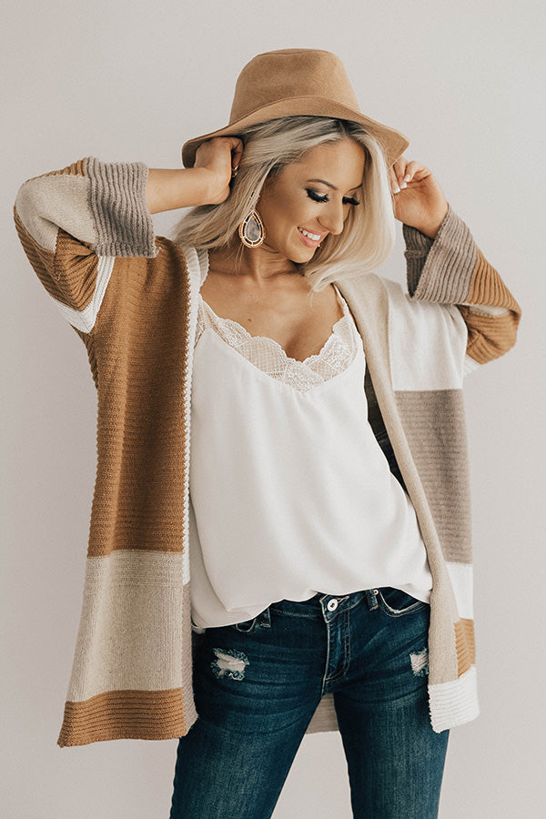 Bundled Up Bliss Colorblock Cardigan
