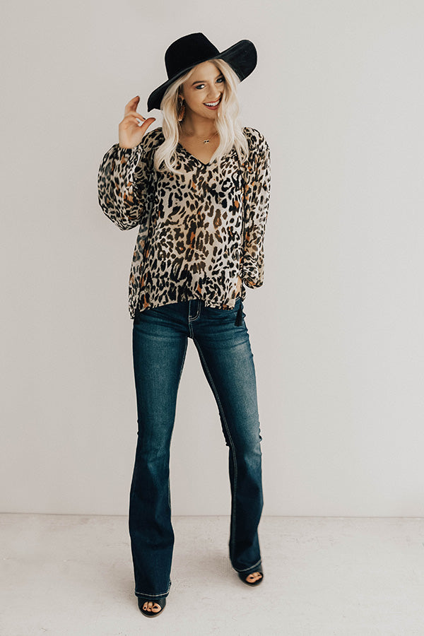 Behind The Scenes Leopard Top