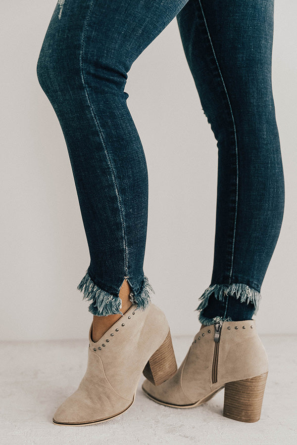 The Preston Distressed Ankle Skinny