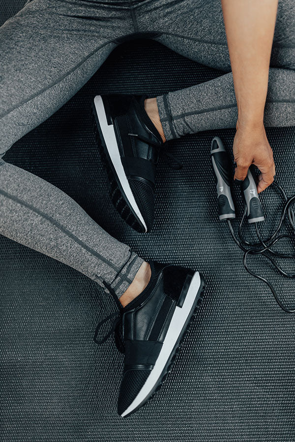 The Skye Sneaker in Black