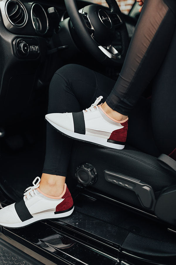 The Skye Sneaker in White