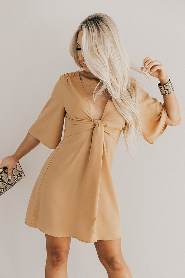 Poppin' Champagne Dress In Mustard
