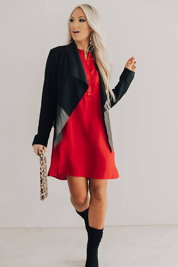Champagne Style Shift Dress In Red