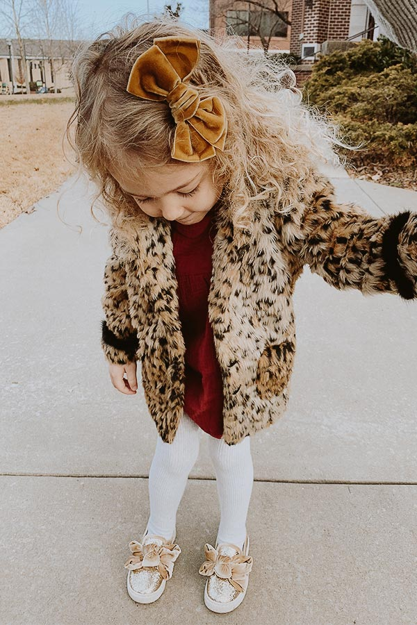 Beyond Beautiful Children's Leopard Coat