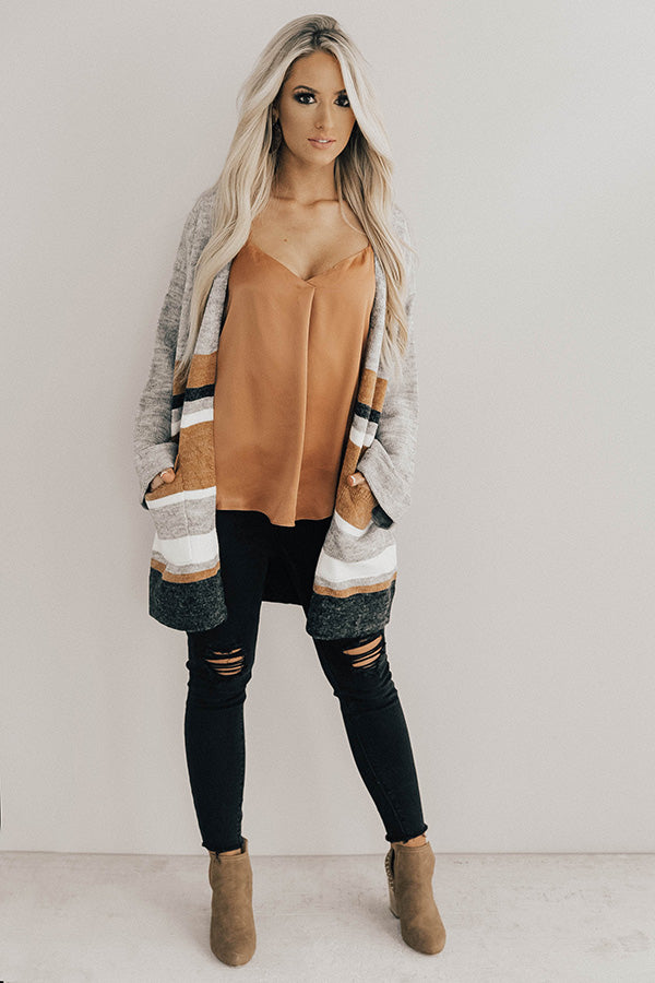 Wonderful City Striped Cardigan
