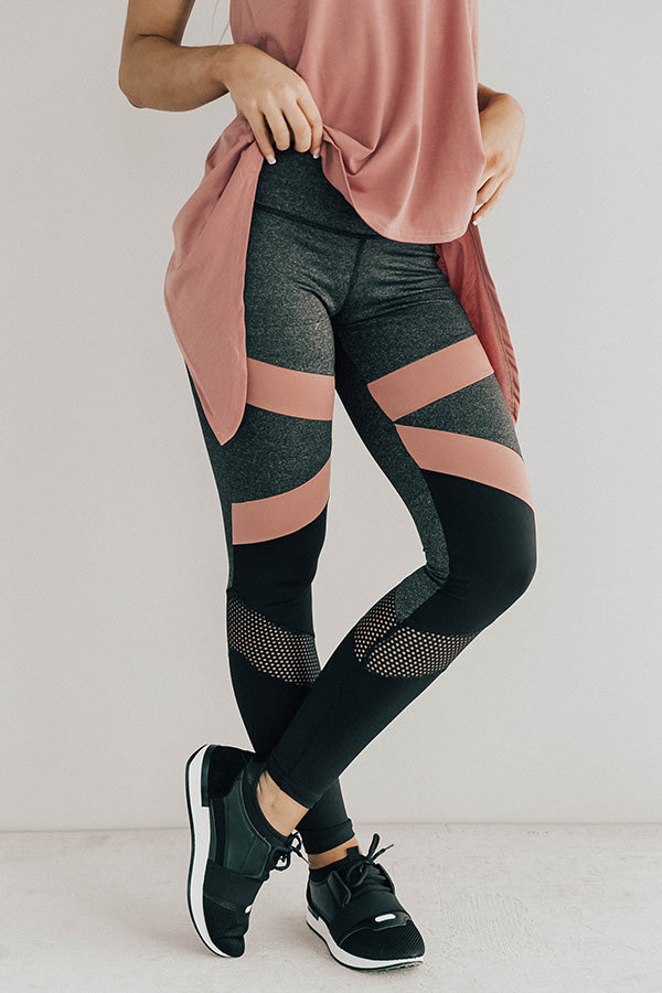 Morning Marathon Midrise Perforated Mesh Legging