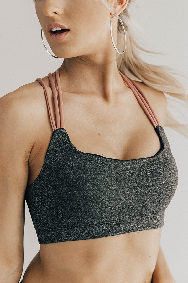 Morning Marathon Strappy Sports Bra