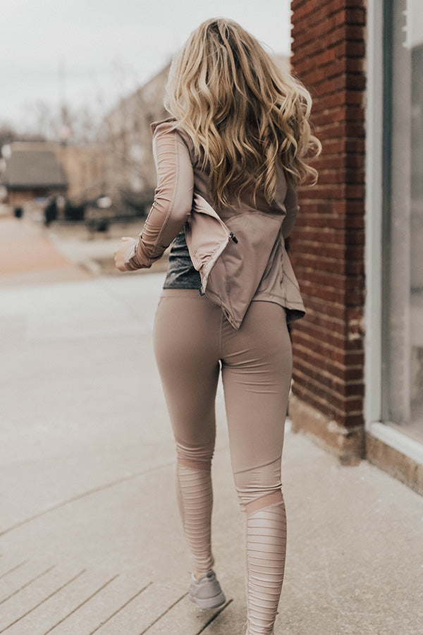 Goal Digger High Waist Moto Legging in Dusty Purple