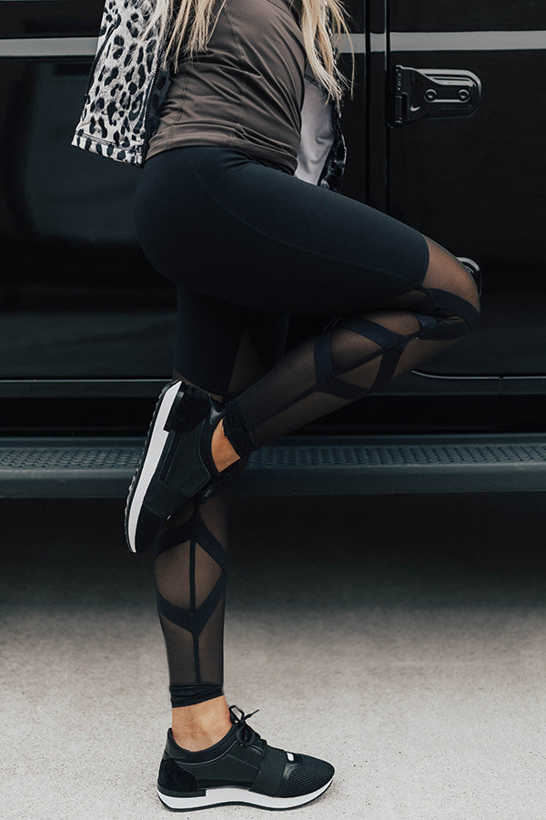 Are You Ready For It?! High Waist Mesh Legging