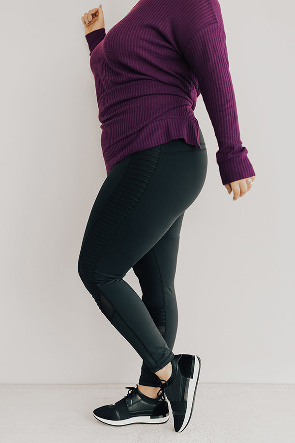 Happy Hour Hustle Midrise Moto Legging