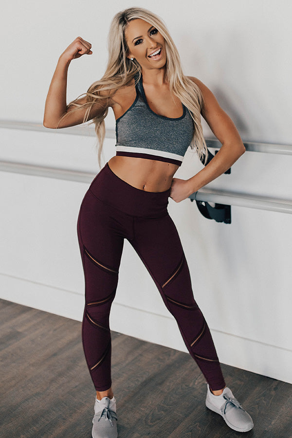 In Alignment High Waist Zig-Zag Mesh Legging