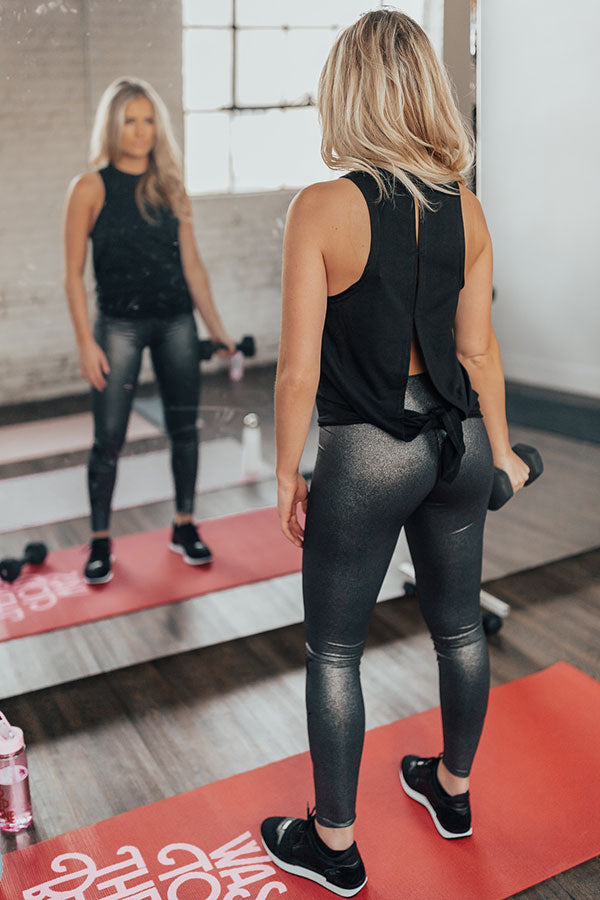 Shine Brighter High Waist Metallic Legging