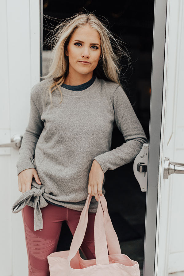 Staying Cozy Shift Sweater