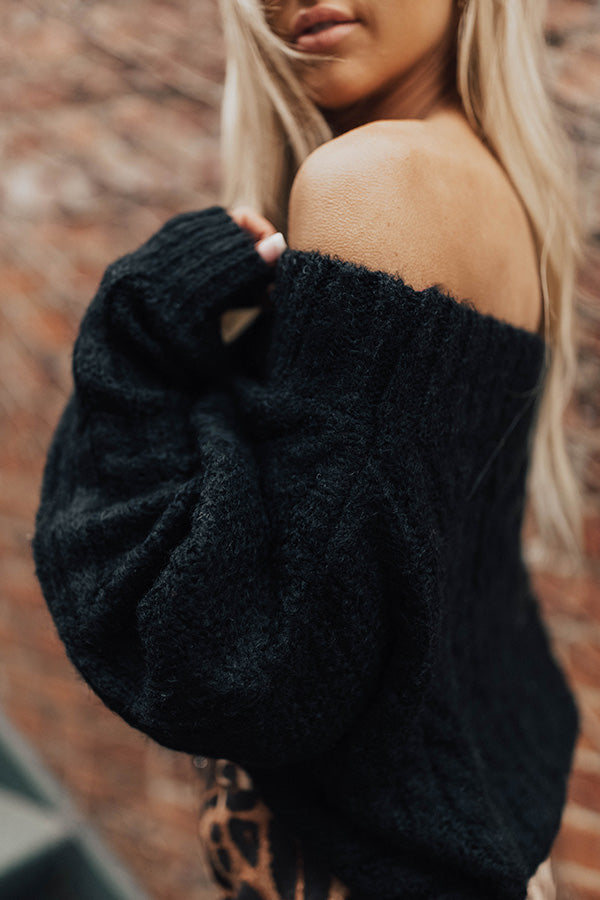 Cuddle Weather Ultra Soft Sweater In Black
