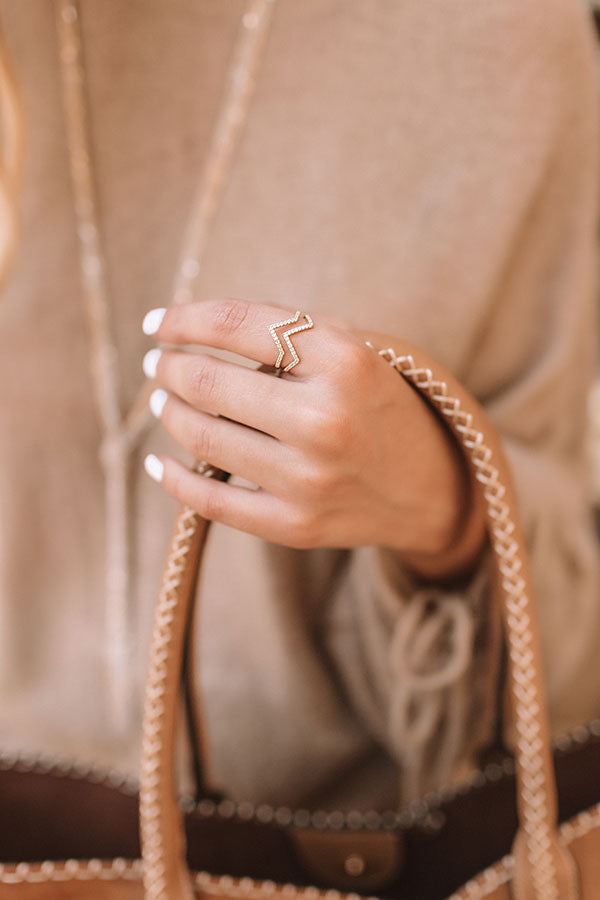 Beverly Hills Chic Ring In Gold