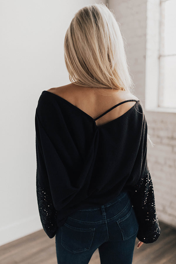 Sparkle In The City Sequin Top