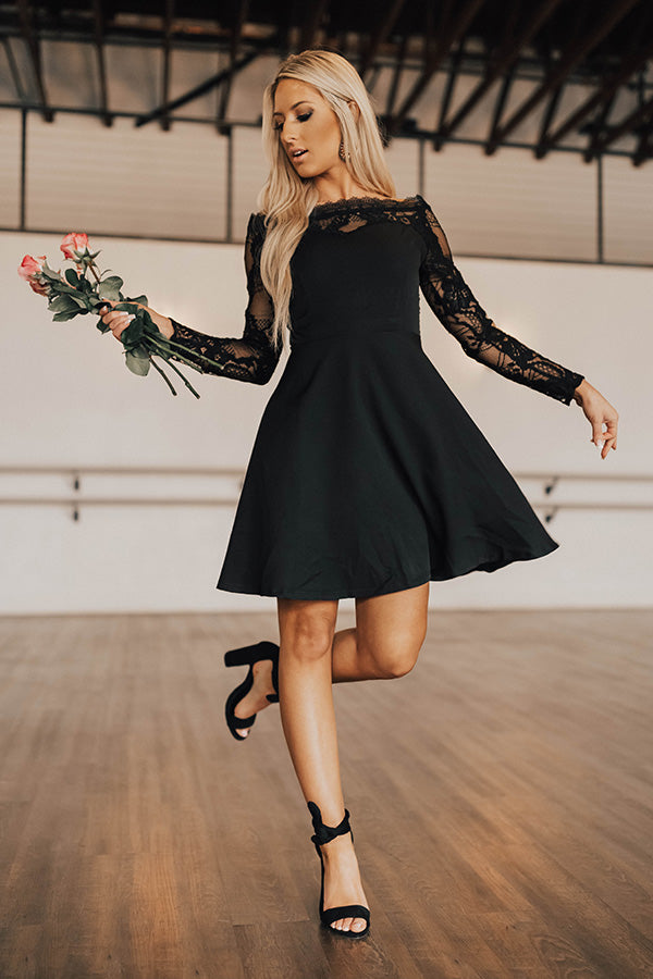 Dance The Night Away Fit And Flare Lace Dress