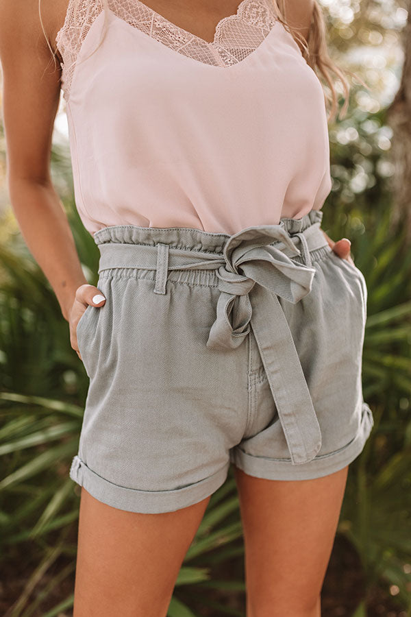 The Ellery High Waist Shorts In Pear