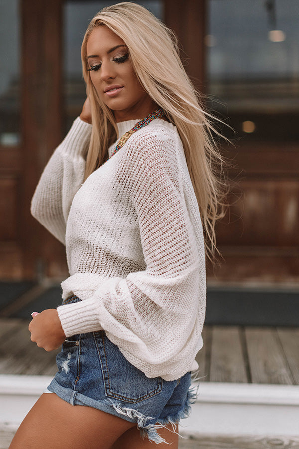Sonoma Sippin' Knit Sweater In Ivory