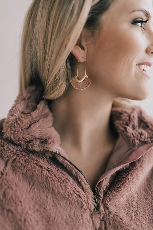 Ready For A Vacay Earrings In Blush