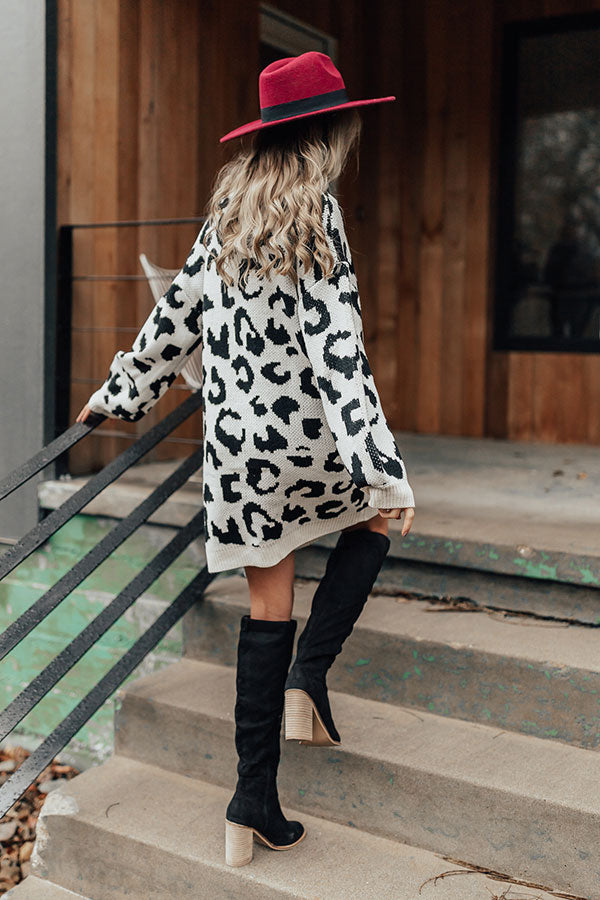 Off Broadway Leopard Sweater Dress