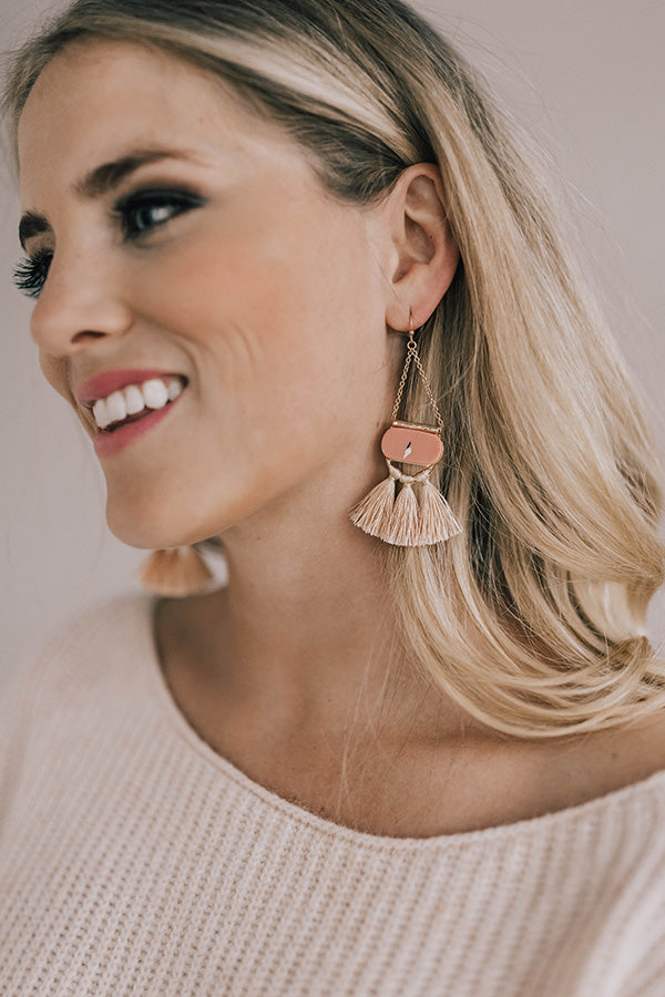 Europe Is Calling Earrings In Pink