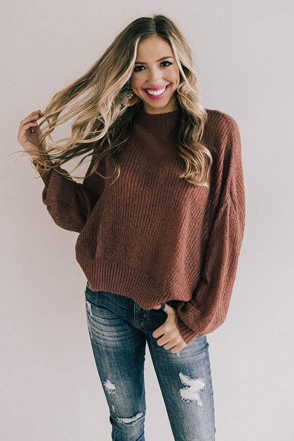 Sonoma Sippin' Knit Sweater In Rustic Rose