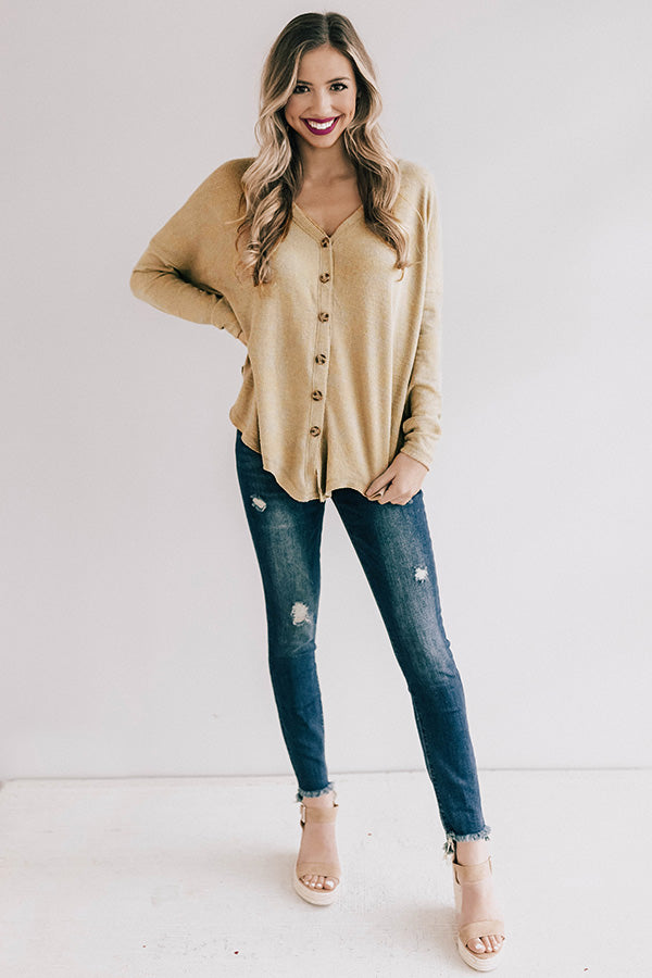 Seattle In Spring Shift Top in Mustard