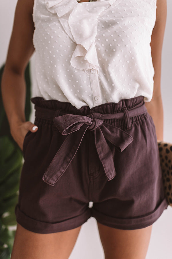 The Ellery High Waist Shorts In Purple