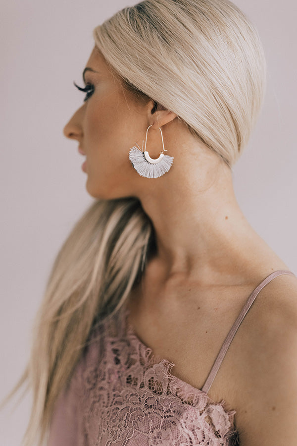 Ready For A Vacay Earrings In Grey